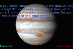 Astronomy Fact 1 : A Day at the Planet Jupiter