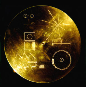 Gold Plated Audio Visual Disc kept in Voyager 1. ( Source: NASA)