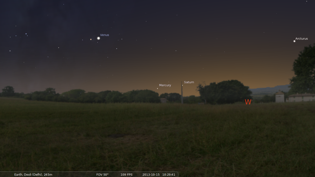 Venus and Mercury as Evening Stars