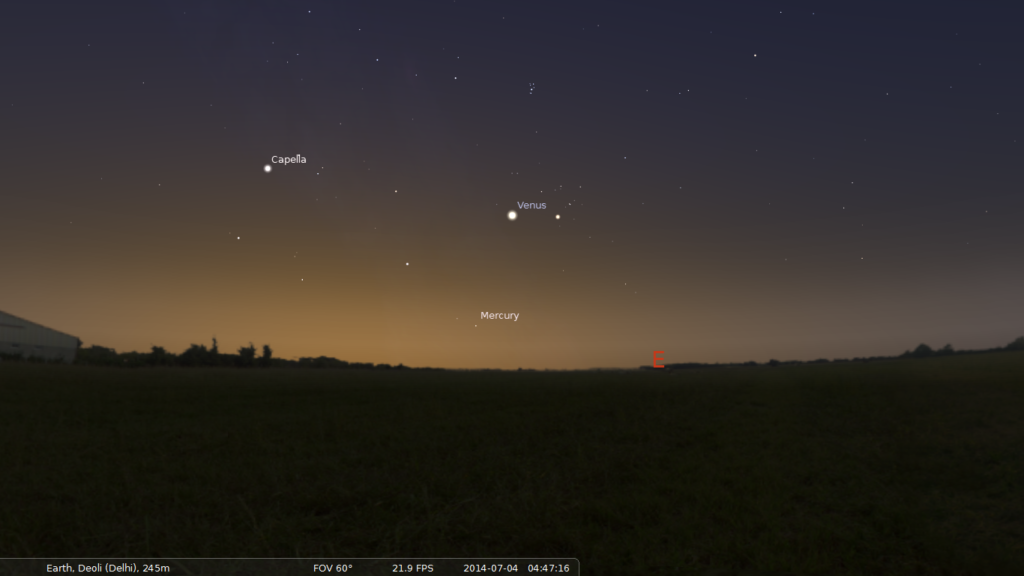 Venus and Mercury as Morning Stars