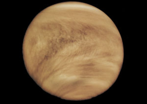 Thick atmosphere of Venus