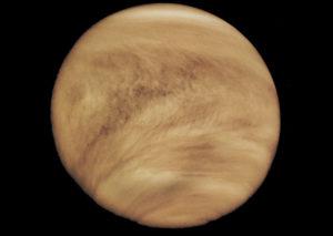Thick atmosphere of Venus