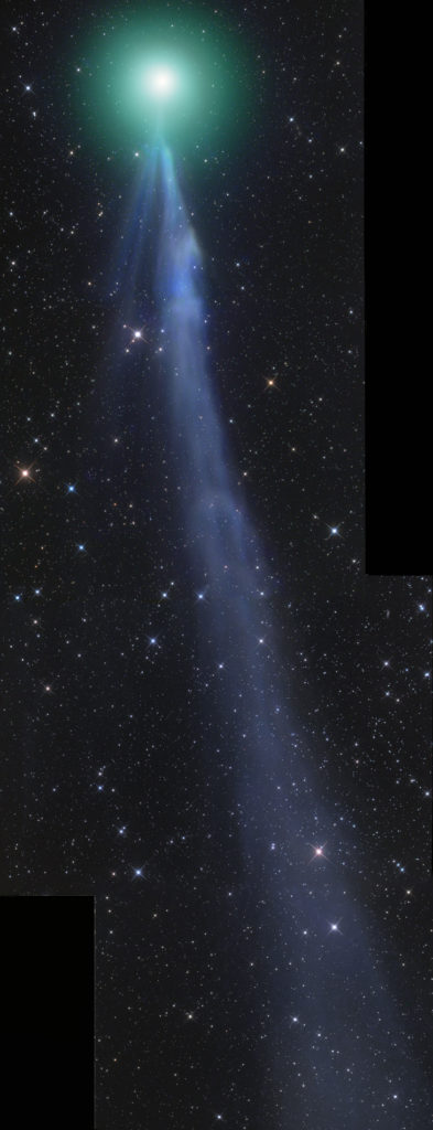 Bright tail of Comet Lovejoy