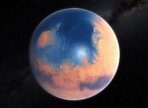 Water on Mars planet