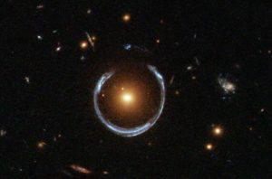 Einstein Ring due to gravitational lensing