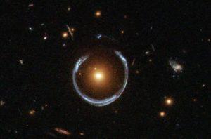 Einstein Ring due to gravitational lensing