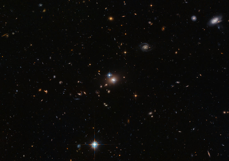 Gravitational lensing due to bending of light