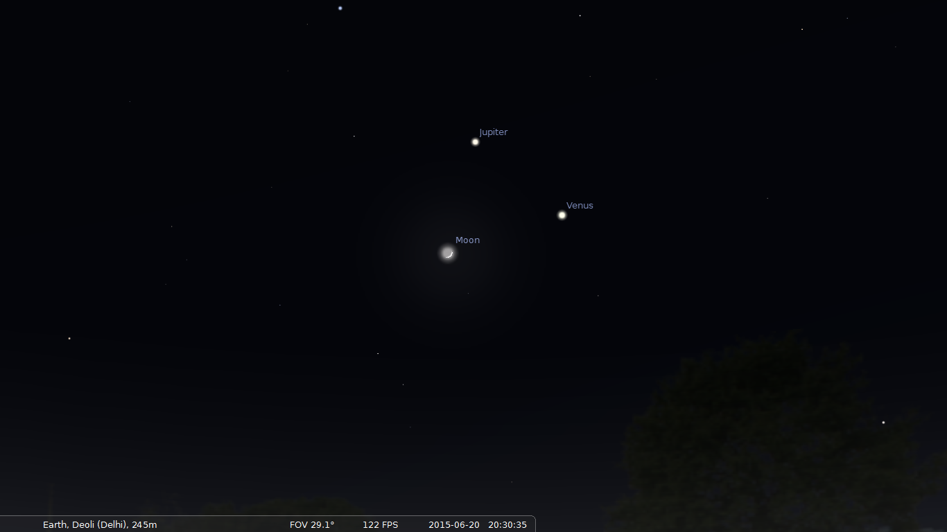 Venus and Jupiter Conjunction on 30th June 2015: An Amazing