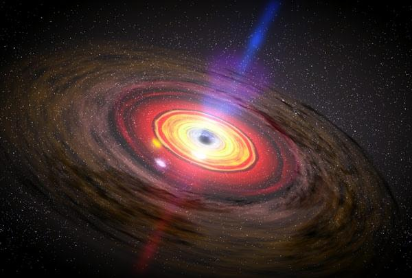 accretion disk of a black hole