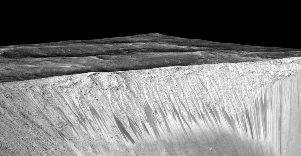 Liquid water on Mars in Garni crater